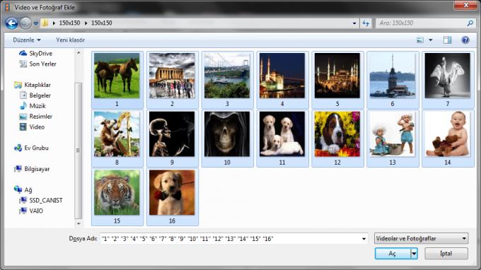 Resimlerden Movie Maker ile Slayt Hazırlama - 3
